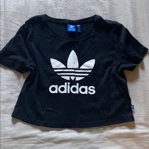 Adidas Black Cropped Tee
